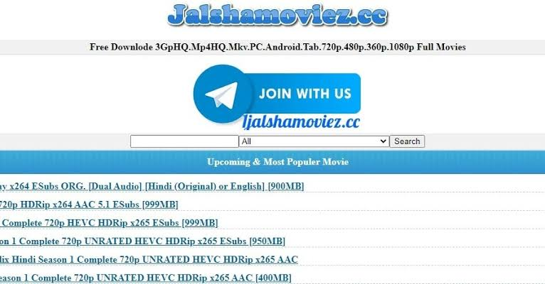 jalshamoviez 2021: Latest Bollywood, Hollywood & South 300MB Dual Audio Movies Download free