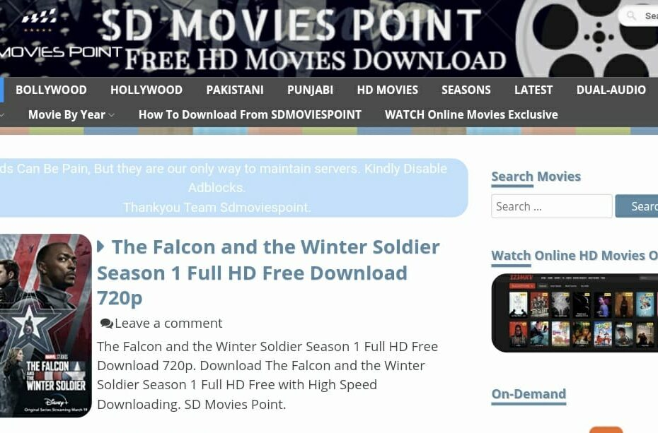 SDMoviespoint New Link 2021: Free Bollywood Hollywood 720p Full HD Movie Download