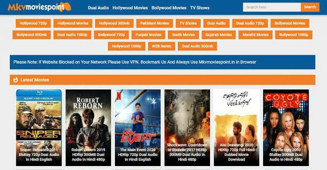 Mkvmoviespoint 2021: All Quality And All Size Free Dual Audio 300MB Bollywood, Hollywood Movies Download